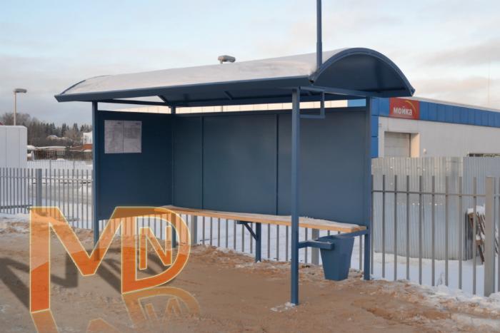 Металлический автопавильон для установки в отдаленных районах города