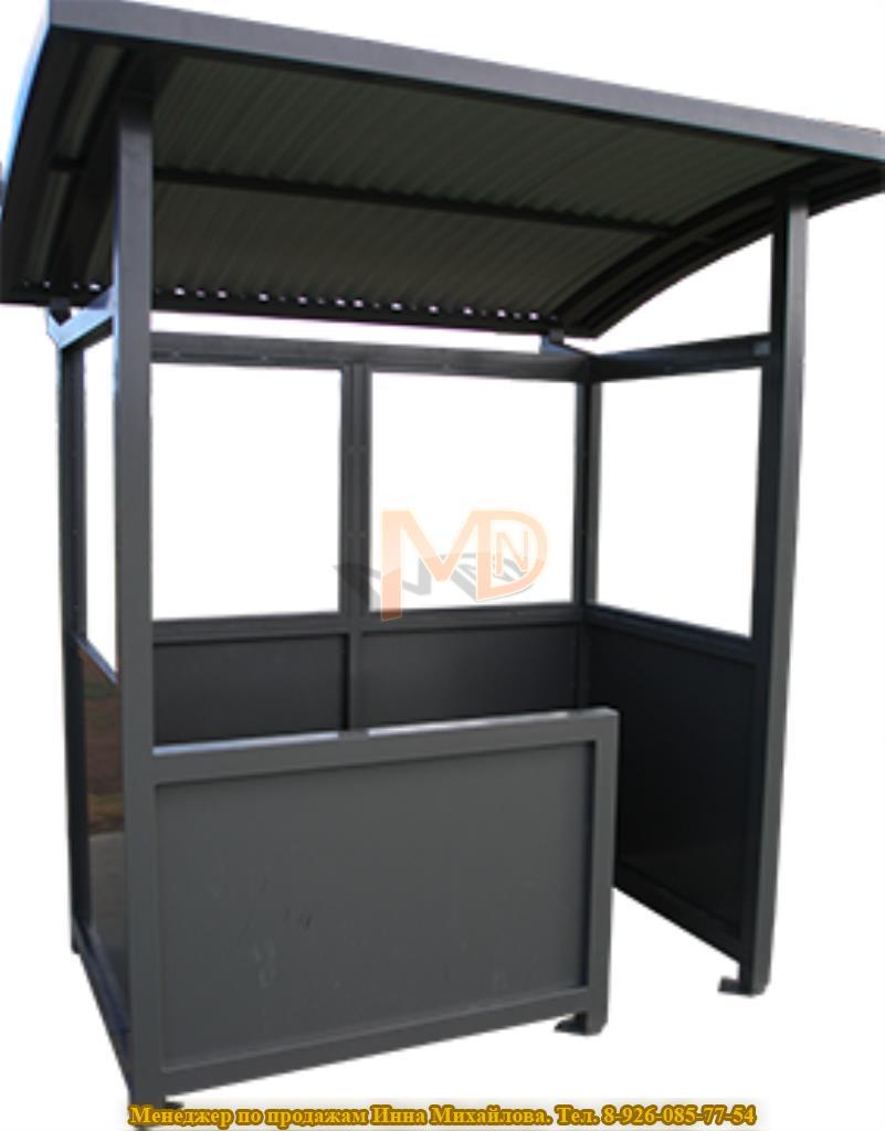 Павильон для паркомата серии П-2 с дополнительной стенкой