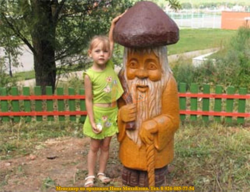 Деревянная скульптура для декорирования городских улиц