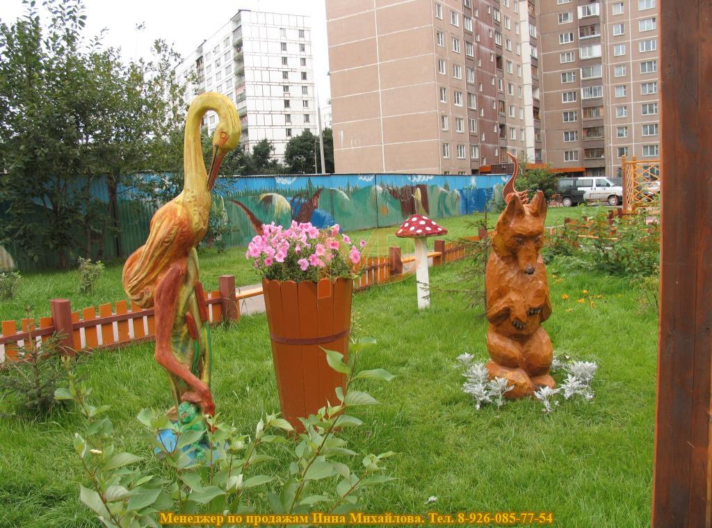 Скульптуры из природного материала для придомовой территории