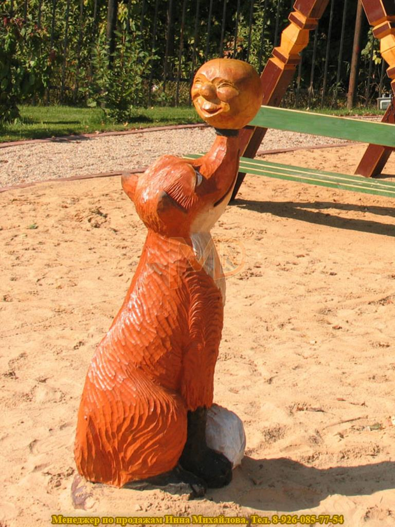 Скульптура из дерева для декорирования территории детского сада