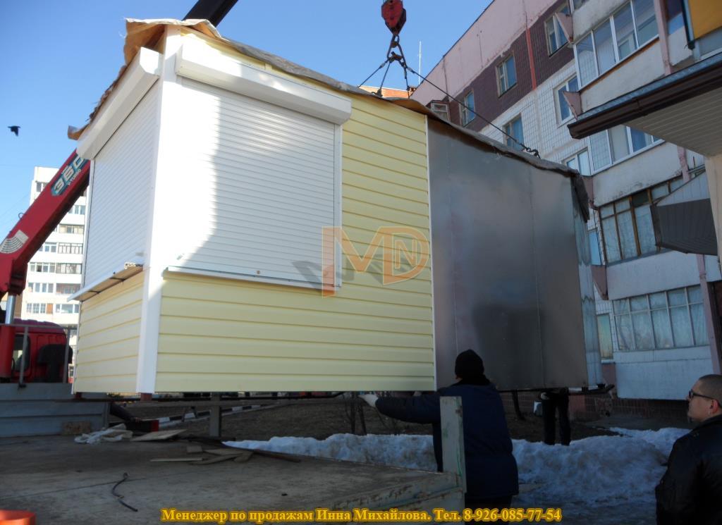 Монтаж торгового павильона в Серпухове