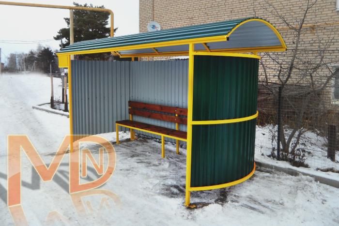 Автобусный павильон А-9 по заказу Администрации муниципального образования Страховское Заокского района