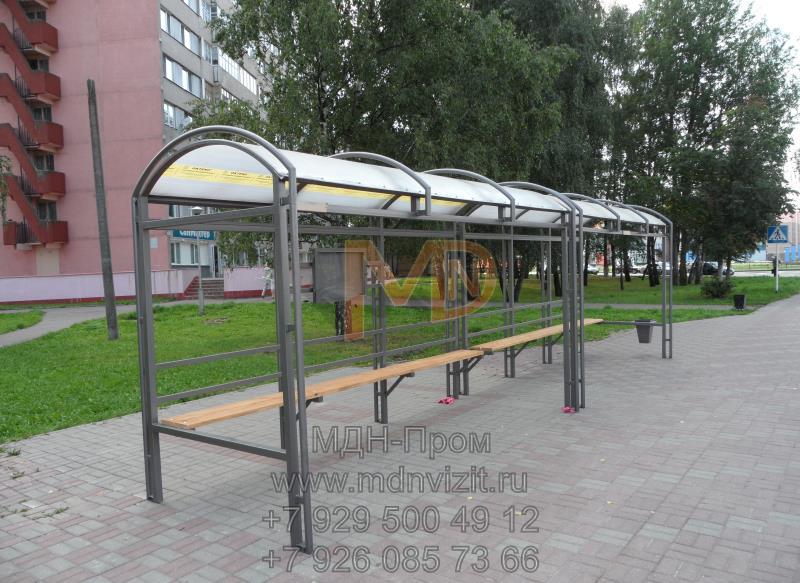 Сдвоенный каркас автобусной остановки ГА