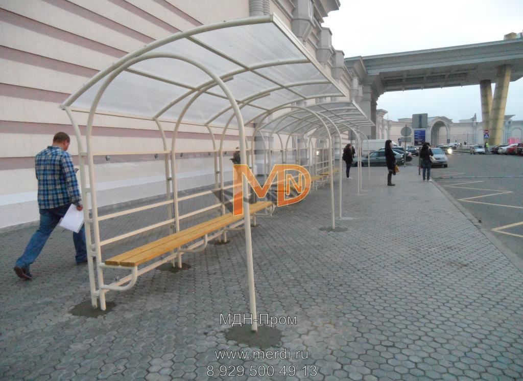 Автобусная остановка АПд-2 на вокзале в Москве
