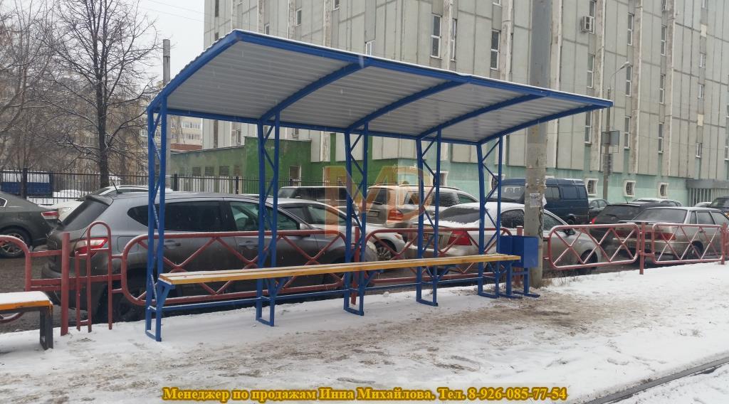 Нестандартный автобусный павильон по заказу города Ярославля