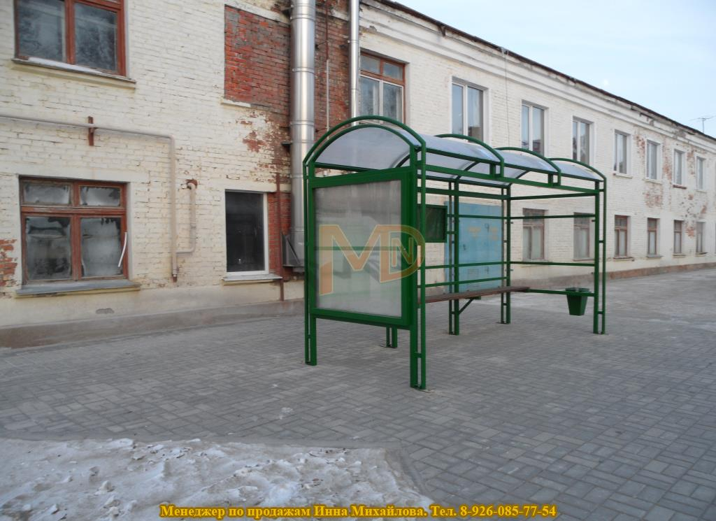 Антивандальная остановка автобусная марки ГА-р1