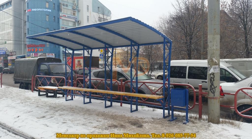 По заказу города Ярославль были доставлены 4 остановочных павильона в нестандартном исполнении