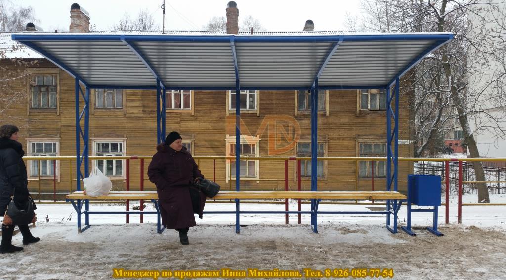 Г-образный автобусный павильон для города Ярославль