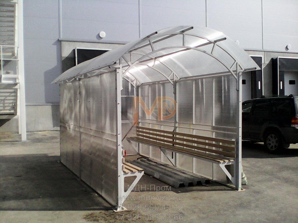 Курительная кабина из поликарбоната